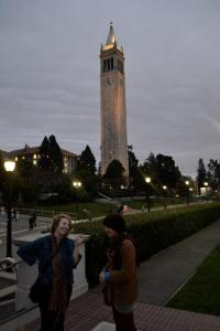 Malka and I by the Berkeley Bell Tower