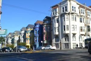 "A few ""painted ladies"" by the Haight"