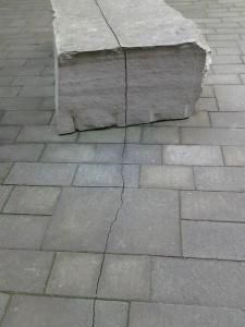 Part of the installation by Andy Goldsworthy outside the De Young Museum