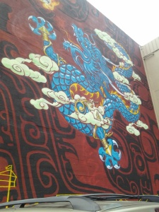 Dragon mural in Oakland Chinatown