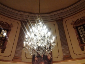 Chandelier in the foyer