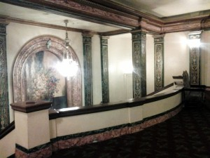 The upstairs hallway of the Grand Lake Theater