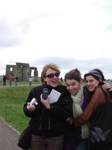 Jill, Sara and Mel at Stonehenge