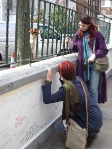 Writing on the wall at Abbey Road Studios