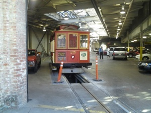 Cable car in the barn!