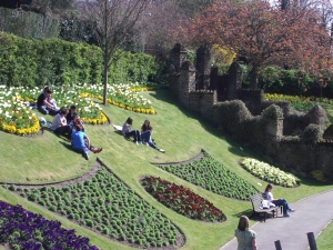 The gardens of Guildford Castle