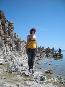 Exploring the beaches of Mono Lake