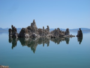 Majestic tufa formations in Mono Lake