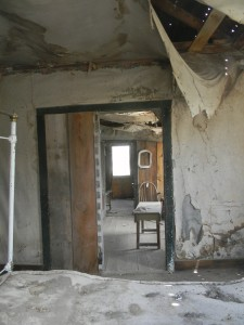 Inside a house at Bodie