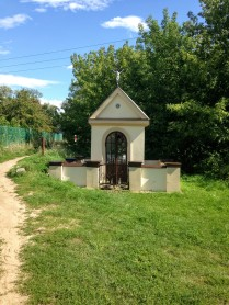 Catholic roadside shrine