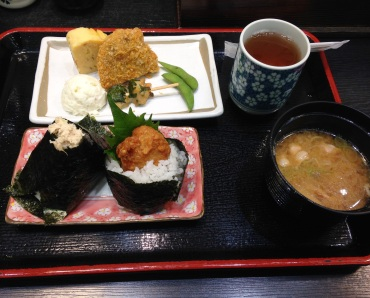 Onigiri set lunch