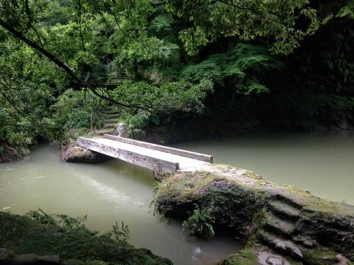 Cute little bridges crossing the river.