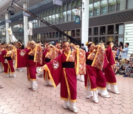 Yosakoi dancers in Kochi. Shot on iphone.