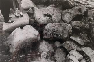 The slippery rock path. Shot on film.