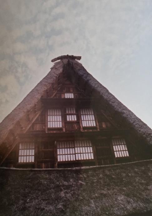 Gassho-style farmhouse. Shot on film.