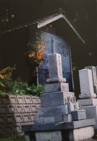 Graves in Gokayama. Shot on film.