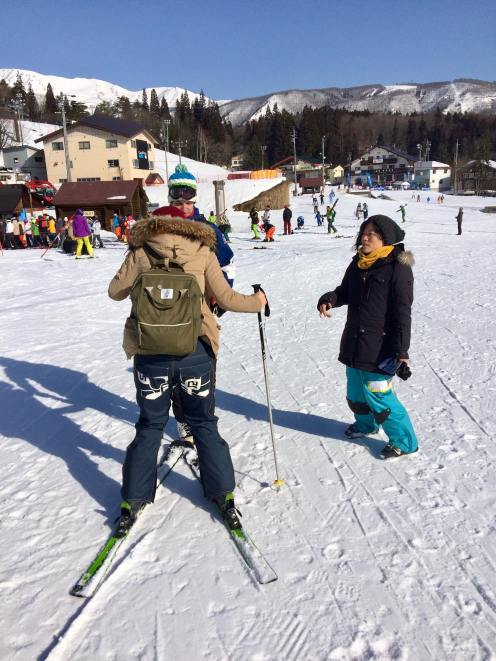 Learning how to ski. Photo courtesy: Beatrice Lord.