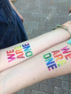 Pride-ful temporary tattoos! Photo by Beatrice Lord