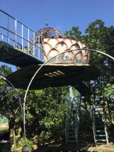 Wacky lotus structure on Phoenix island.
