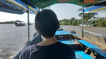 On a boat. Image courtesy: Lital Bezalel.